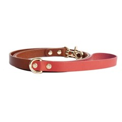 CLASSIC LEATHER LEASH ROSE PINK
