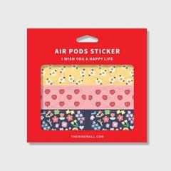 패턴 spring 에어팟 철가루 방지스티커