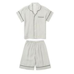 알콩단잠 여성잠옷 이매진 인견 레이온 반팔 홈웨어 투피스 세트 (셔