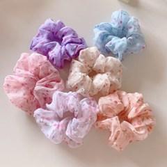 벚꽃 쉬폰 헤어슈슈 곱창 머리끈