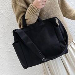 어반페이스 블랙 데일리 2포켓 텀블러 에코백 크로스백 가방