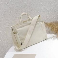 어반페이스 아이보리 데일리 2포켓 텀블러 에코백 크로스백 가방