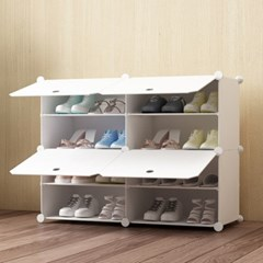 DIY 화이트 도어형 신발장(85x65cm)