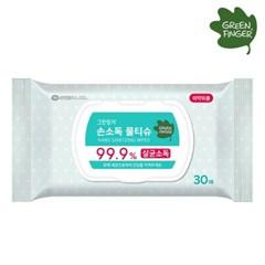 [그린핑거] 손소독 물티슈 캡형 30매_(701746862)