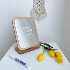 우드 탁상 거울 A type 접이식 화장대 사각 인테리어 소품