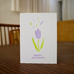 Tulip Pop 튤립 팝 레터프레스 카드
