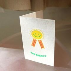Congreats 콩그레잇츠 레터프레스 카드