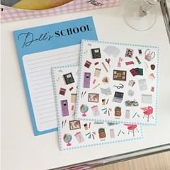 Doll's Sticker - School 돌즈스티커 - 스쿨 (2장)