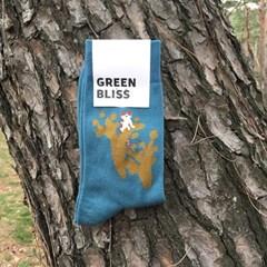[Organic cotton] Gotjawal Cat 2 (blue green)