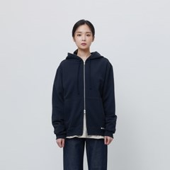 [에이카 화이트]FINEST COTTON ZIP UP HOODIE-DEEP NAVY