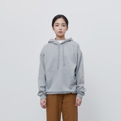 [에이카 화이트]FINEST COTTON PULLOVER HOODIE-GREY