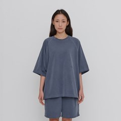 [에이카 화이트]OVERSIZE RAGLAN TEE-WASHED NAVY
