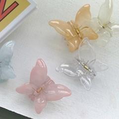 [헤어집게핀] 컬러풀 나비헤어클립