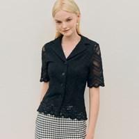 Jane Punching Collar Blouse_Black_(242476)
