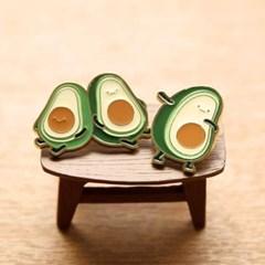 아보카도브라더 귀여운 포인트 블링블링 금속뱃지2_(1547540)