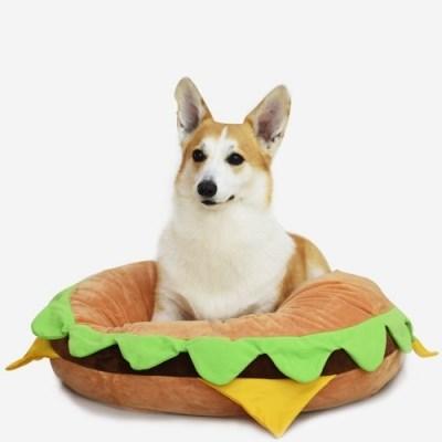 코튼푸드 햄버거 강아지방석 60cm