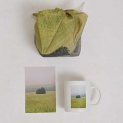 제주 오름 머그컵 세트(머그컵+패브릭포스터)