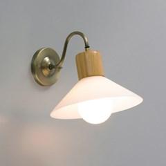 LED 벽등 밀크 갓 1등 직부등_(1848016)