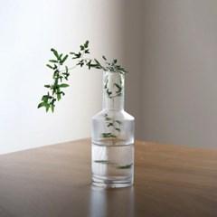 수아 스트라이프 유리 꽃병
