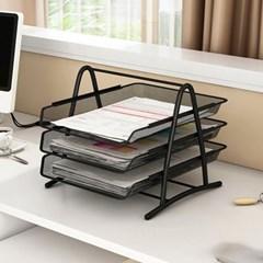 깔끔한 책상정리 철제 파일 서류 정리함 꽂이