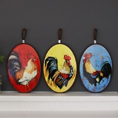 루스터 닭 냄비받침 (3type)_(1926334)