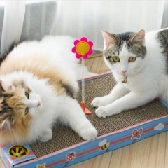 발라당 고양이 스크래처 스트레스해소 세트(스프링1개,공1개 포함)