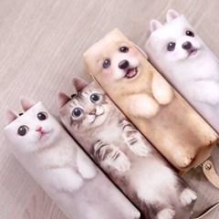 키워주라냥 키워주라멍 귀여운 강아지 고양이 필통_(1549597)
