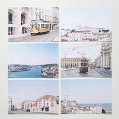 [메리필름] 포르투갈 리스본 포르투 여행 엽서 set (6장)