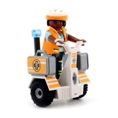 플레이모빌 구조대원과 이륜차 70052