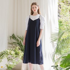[클렛] STRING LAYERED DRESS