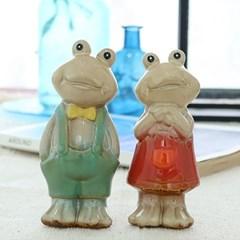 도자기 개구리 연인 2P세트