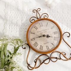 빈티지 브라운 탁상 시계