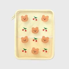 Dot cherry bear-ivory(PVC 파우치)_(1559971)