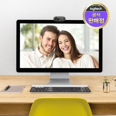 로지텍코리아 정품 C310 HD 웹캠 화상회의/온라인수업_(780366)