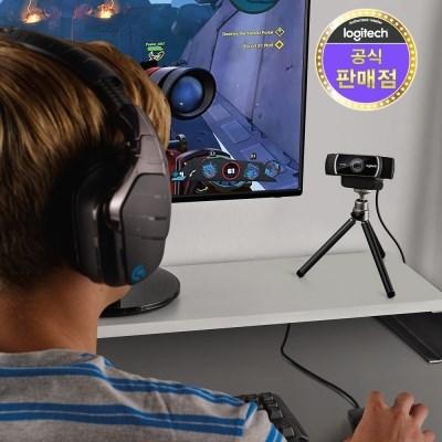 로지텍코리아 정품 C922 HD 스트리밍캠 삼각대포함_(780362)