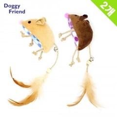 Doggy Friend 캣닙 깃털방울 마우스 X 2개 (n)