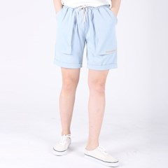 (UNISEX)Denim Vintage Shorts(LIGHT)