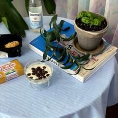 온더파자마블루 식탁보 테이블보 110x110cm 테이블러너