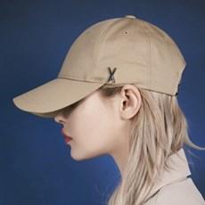 트와이스 미나 착용 [바잘] 스터드 로고 오버핏 볼캡 베이지