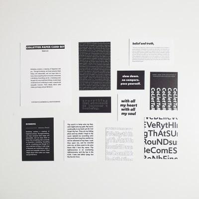 컬레터 페이퍼카드 세트 black ver.
