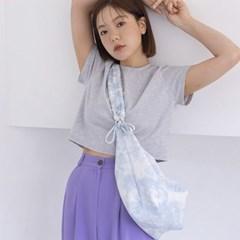 [7/10일 예약발송] Crossiant Bag_Tie Dye Denim