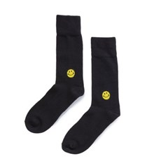 [BIGWAVE COLLECTIVE] SMILE SOCKS_USA COTTON (BLACK)