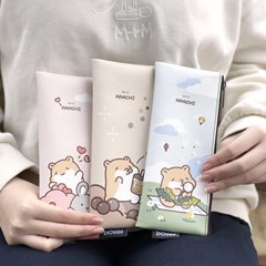 국내 캐릭터 아라찌 정품 납작 슬림 파우치