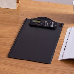 계산기 A4 세로형 클립보드(블랙)