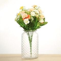 빗방울 무늬 유리병 (투명) 수경재배 vase_(1101793)