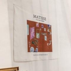 마티스 붉은실내 패브릭 포스터
