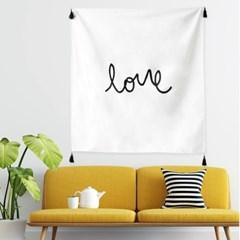 패브릭 러브(Love) 포스터 가랜드 / 가리개커튼