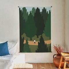 숲길 일러스트 패브릭 포스터 / 가리개 커튼
