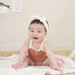 [메르베] 코튼 메쉬 빈티지 나시슈트/아기 바디슈트_브릭