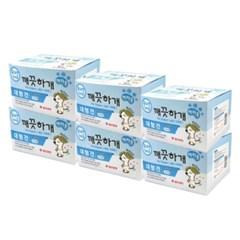 깨끗하개 기저귀 여아용 L 10매 x 6개 (pb)